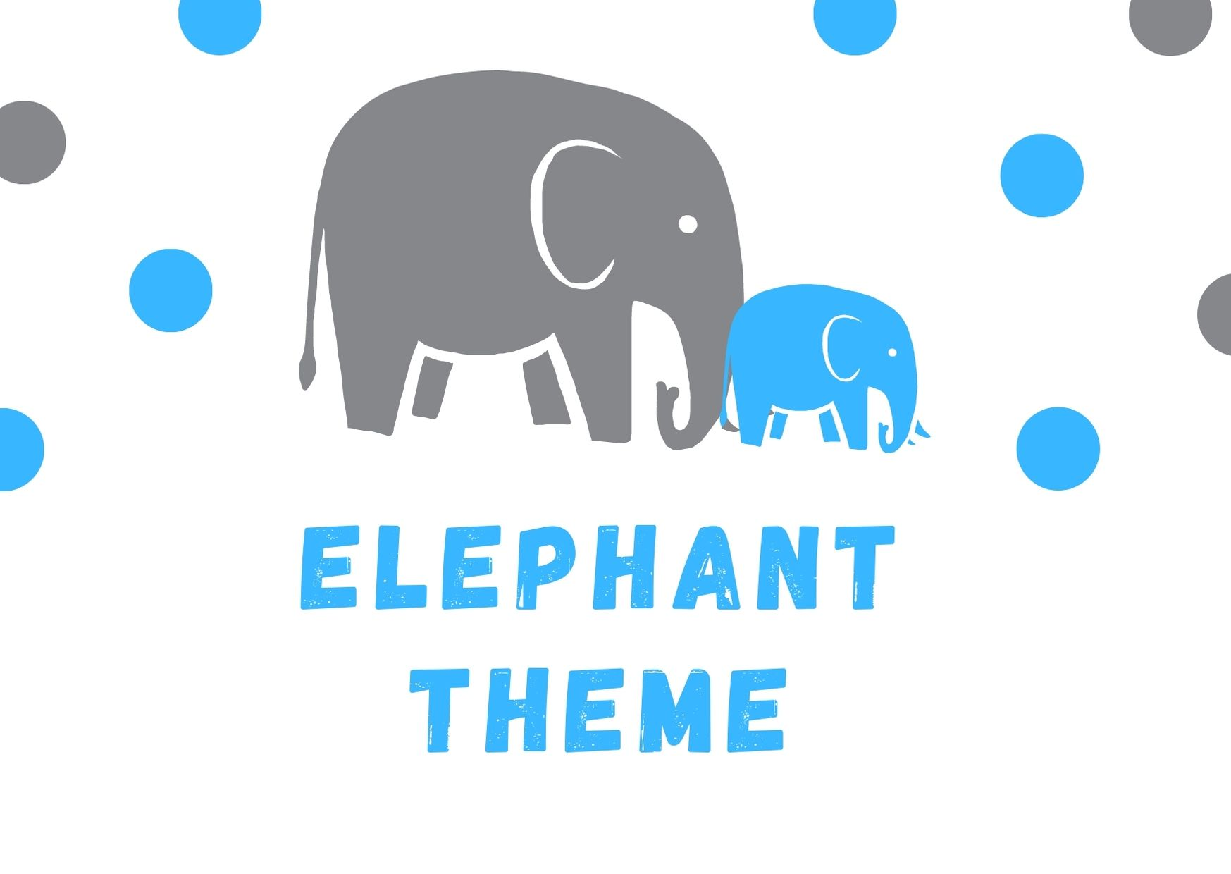 Elephant Theme Baby Shower Birthday Party