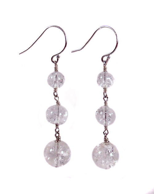 Quartz and Sterling Silver Belle of the Ball Earrings