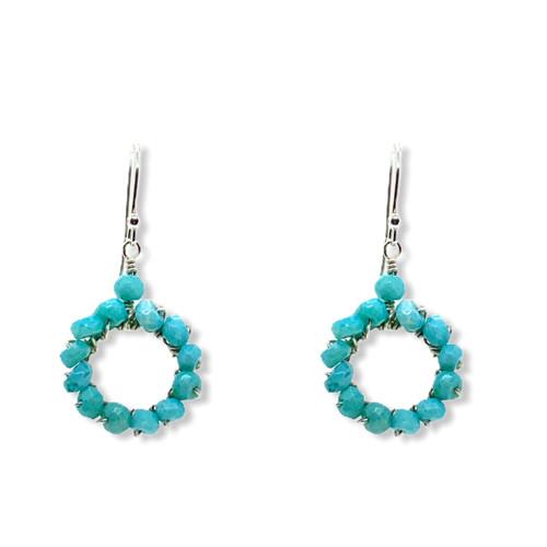 Glow earrings in Peruvian opals