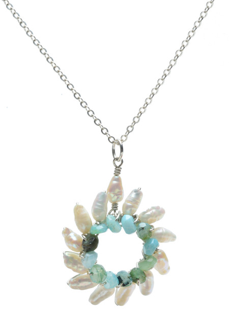 Small Sunburst Pendant Necklace