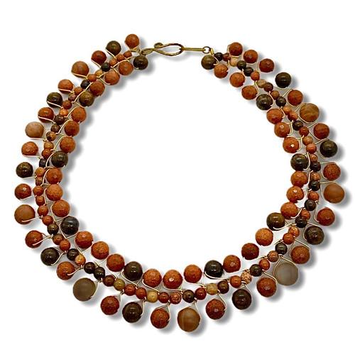 signature gemstone collar necklace