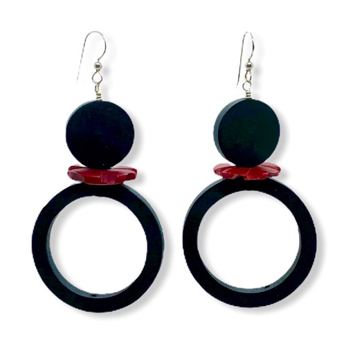 Cirque Du Rouge Noir Earrings