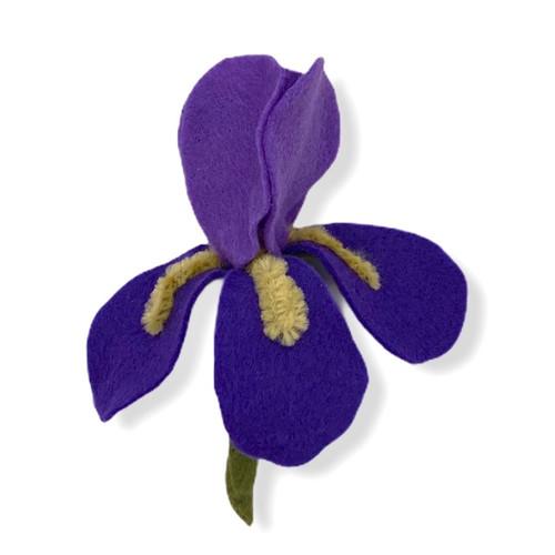 Two tone purple iris felt brooch