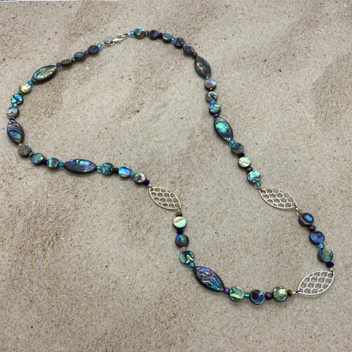 Mermaid Abalone and Sterling Silver Necklace
