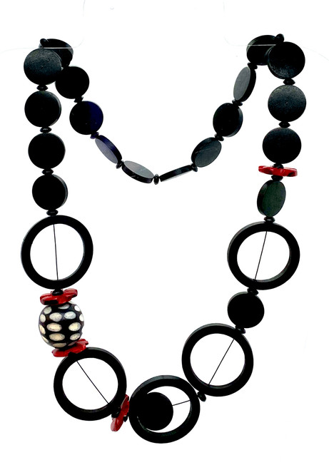 Cirque Du Rouge Noir Wood Necklace