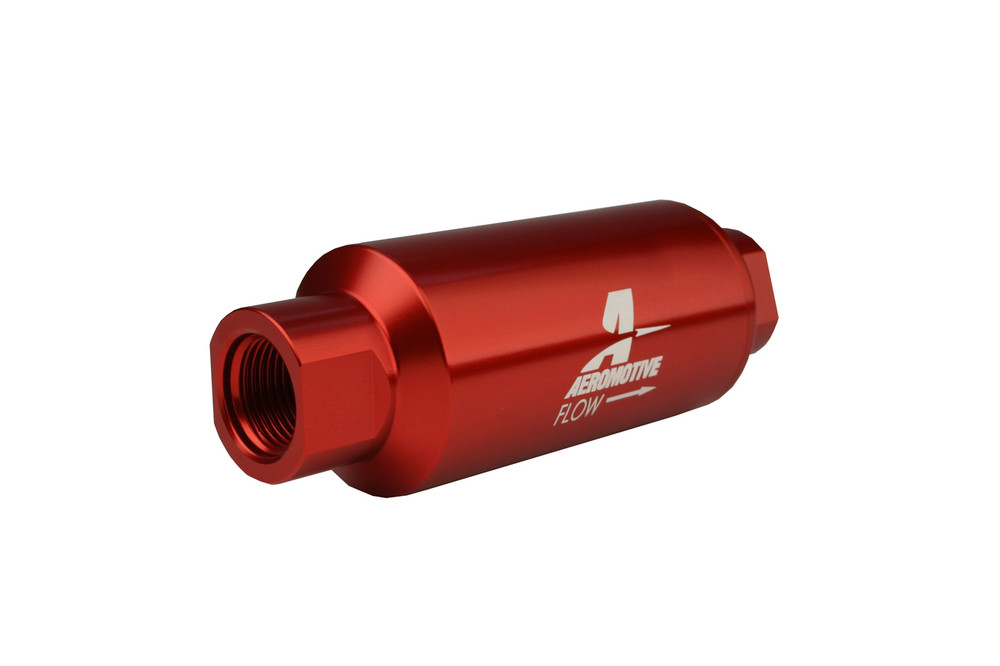 """8AN Male Inlet//Outlet Ports 2/"""" Diameter Aeromotive 12378 In-Line Fuel Filter"""