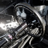 """Quarter-Max Billet Steering Wheel Hub Extension, Black, 5"""" - Installed"""