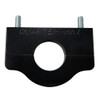 "Billet Tube Clamp, Black Anodized - 1.25"" Diameter"