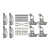 """Quarter-Max 201211-2D Pro Series 4-Link Kit with 4130 13"""" Notch Spread Chassis Brackets, 4130 3-1/4"""" Axle Tube Hole Size Housing Brackets, doubler plates"""