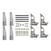 """Quarter-Max 201211-5 Pro Series 4-Link Kit with 4130 Blank No Notches (Universal) Chassis Brackets, 4130 3-1/4"""" Axle Tube Hole Size Housing Brackets"""