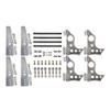 """Quarter-Max 201211-5D Pro Series 4-Link Kit with 4130 Blank No Notches (Universal) Chassis Brackets, 4130 3-1/4"""" Axle Tube Hole Size Housing Brackets, doubler plates"""