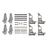 """Quarter-Max 201211-11 Pro Series 4-Link Kit with 4130 Round Tube Back-Half Chassis Brackets, 4130 3-1/4"""" Axle Tube Hole Size Housing Brackets"""