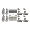 """Quarter-Max 201211-11D Pro Series 4-Link Kit with 4130 Round Tube Back-Half Chassis Brackets, 4130 3-1/4"""" Axle Tube Hole Size Housing Brackets, doubler plates"""