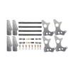 "Quarter-Max 301101-3.0 4-Link Kit with Universal Chassis Brackets & 3"" Axle Tube Hole Size Housing Brackets"