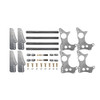 "Quarter-Max 301101-3.5 4-Link Kit with Universal Chassis Brackets & 3-1/2"" Axle Tube Hole Size Housing Brackets"