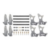 "Quarter-Max 301103-3.0 4-Link Kit with 2"" x 3"" Chassis Brackets & 3"" Axle Tube Hole Size Housing Brackets"