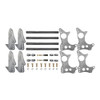 "Quarter-Max 301103-3.5 4-Link Kit with 2"" x 3"" Chassis Brackets & 3-1/2"" Axle Tube Hole Size Housing Brackets"