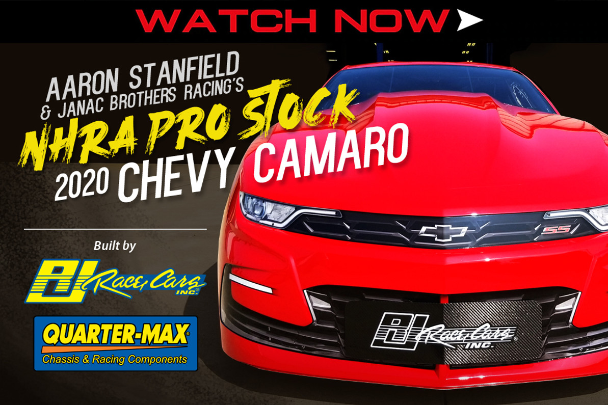 FIRST LOOK: Aaron Stanfield & Janac Brothers Racing's NHRA Pro Stock 2020 Chevy Camaro built by RJ Race Cars