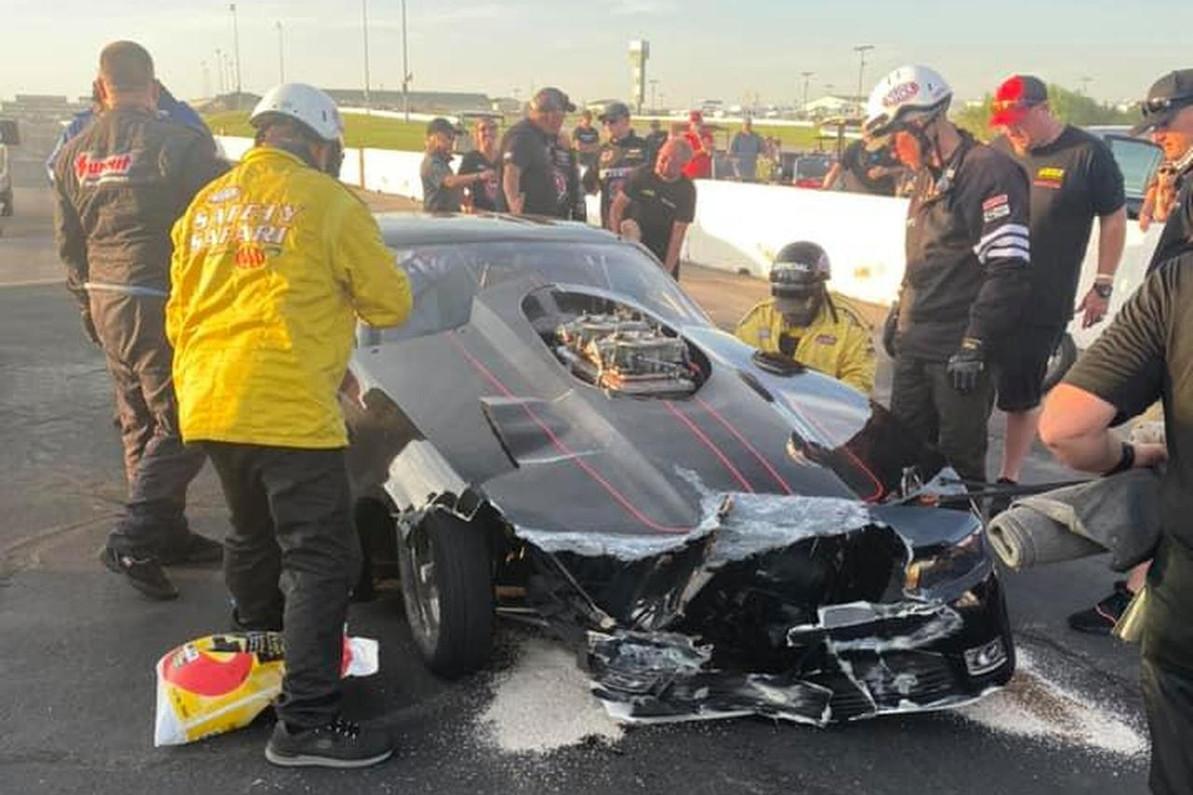 Allen Firestone's Repair Process Begins After Winning NHRA Top Sportsman in Topeka