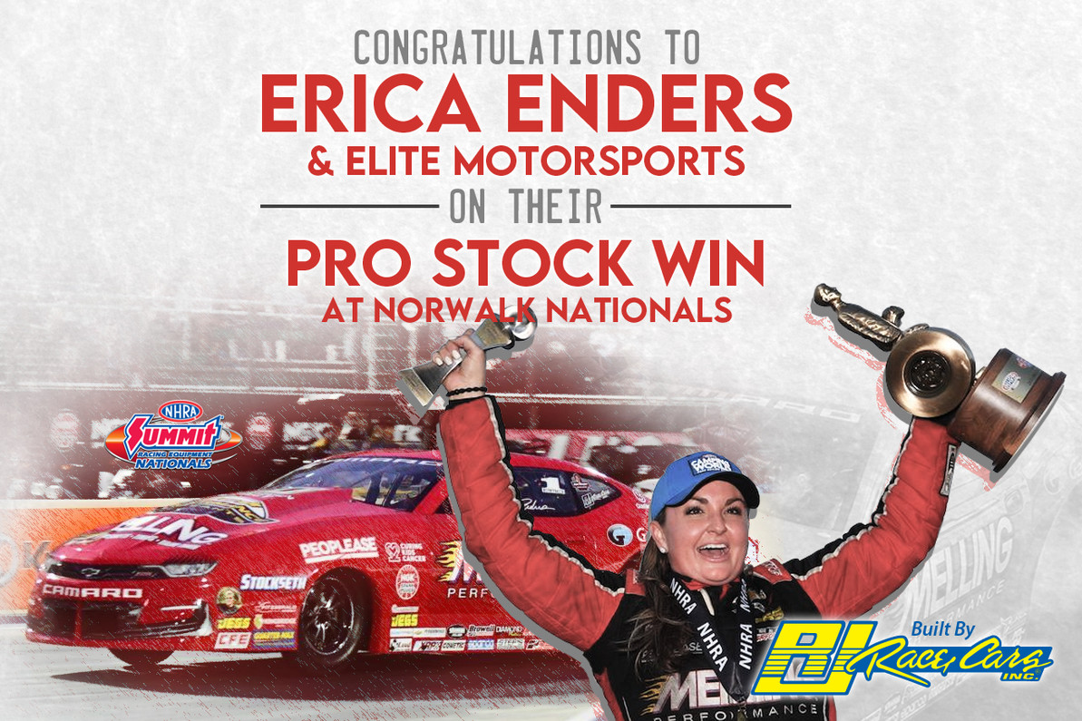 ENDERS BESTS ANDERSON IN CLASSIC PRO STOCK FINAL AT NORWALK NATIONALS DRIVING A RJ RACE CARS BUILT CAMARO!