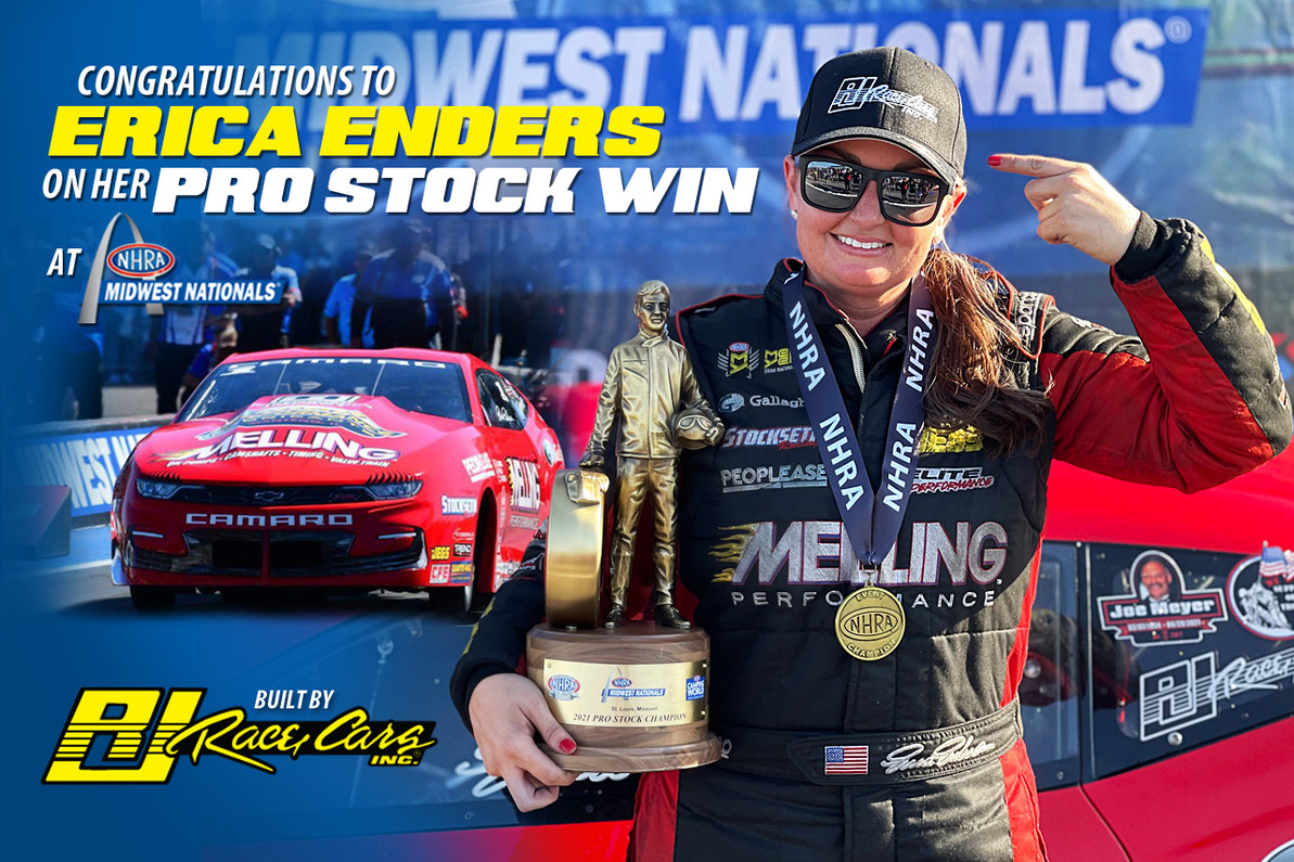 PRO STOCK STAR ERICA ENDERS CLAIMS ANOTHER WIN IN ST. LOUIS IN A RJ BUILT CAMARO