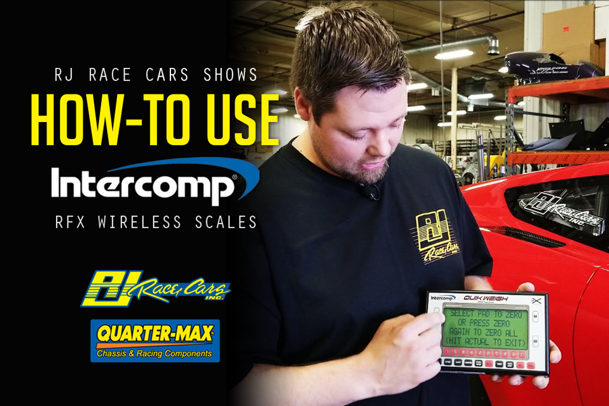 RJ Race Cars Shows How-To Use Intercomp RFX Wireless Scales