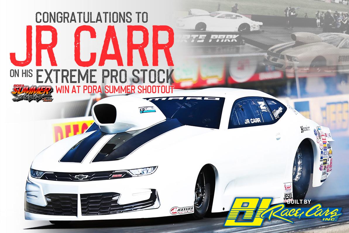 JR Carr Wins Sonny Leonard Memorial Race in an RJ Race Cars built Camaro