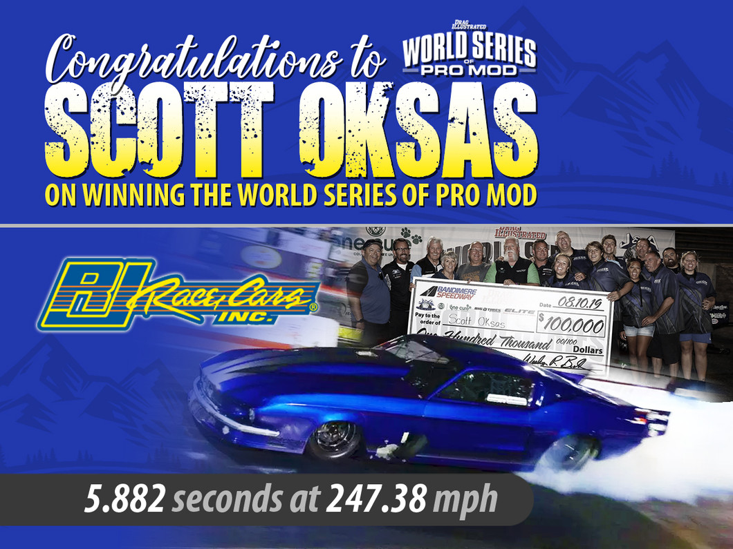 Scott Oksas Scores Career-Defining Win With $100,000 Victory At World Series Of Pro Mod in his RJ Race Cars built '67 Mustang