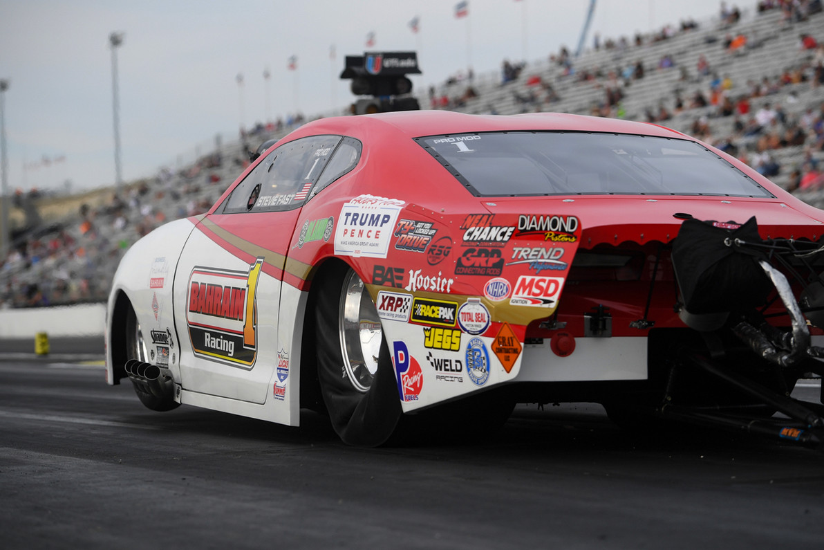 "Reigning NHRA Pro Mod World Champ Stevie ""Fast"" Jackson Rolls To Second U.S. Nationals Win in his RJ Race Cars built Camaro"