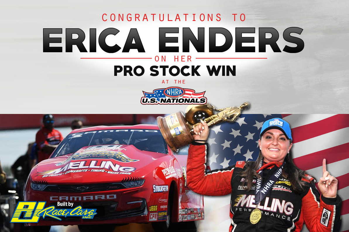 Enders comes through with the win at prestigious U.S Nationals driving a RJ built Camaro!