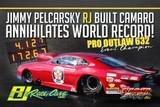 Jimmy Pelcarsky RJ built Camaro Annihilates World Record in PDRA Outlaw 632 at Virgina!