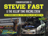 Stevie Fast Wins Radial vs the World at No Mercy 10 in The Shadow 2.0 built by RJ Race Cars
