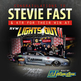 'STEVIE FAST' WINS RVW AT LIGHTS OUT 11