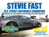 """Stevie """"Fast"""" breaks Radial vs The World National Record & takes the win with his RJ/QM built Shadow 2.0 Chevy Camaro"""