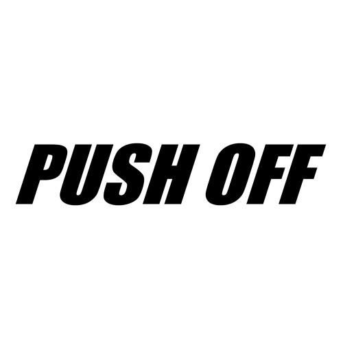 Quarter-Max PUSH OFF Decal - Black