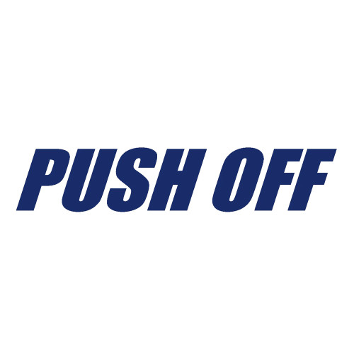 Quarter-Max PUSH OFF Decal - Blue
