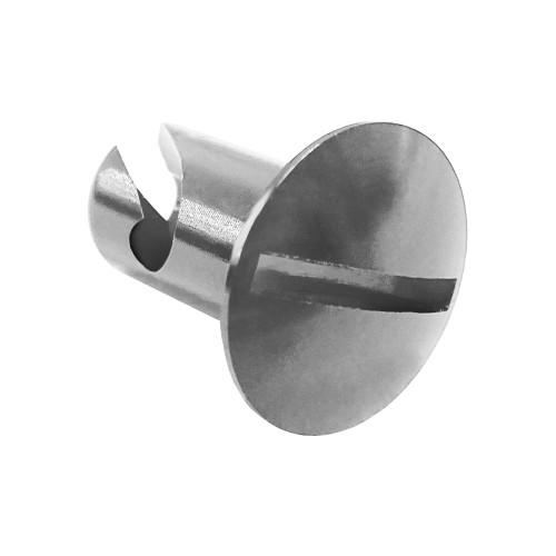 5/16 in. Oval Slotted Head Quarter Turn Fastener, Aluminum, Silver, .400 in. Grip Length