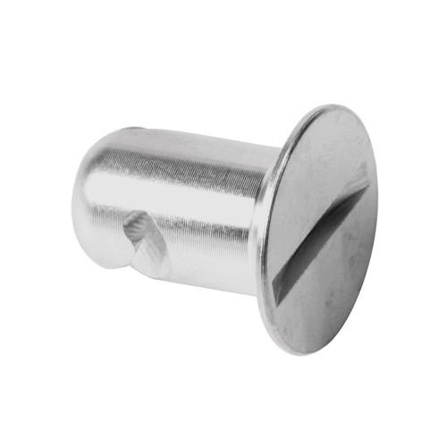 7/16 in. Flush Slotted Head Quarter Turn Fastener, Aluminum, Silver, .500 in. Grip Length