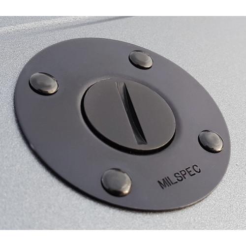 7/16 in. Quarter Turn Fastener Doubler Plate, Aluminum, Black Anodized