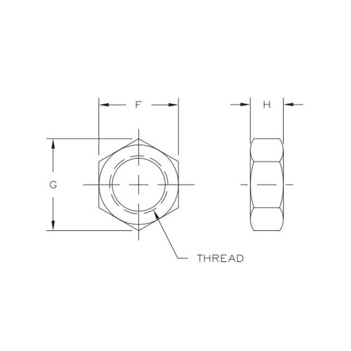 "Aurora Bearing  1/2""-20 Thread LH Jam Nut"