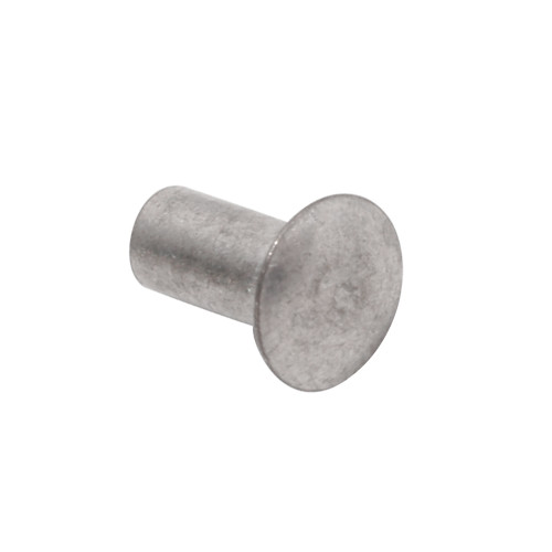 "Quarter-Max 600002-250 1/8"" x 1/4"" Long Semi-Tubular Smash Rivet, Steel, Zinc Plated"