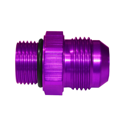 -12 AN Flare to -10 AN Straight Fitting, Aluminum, Purple