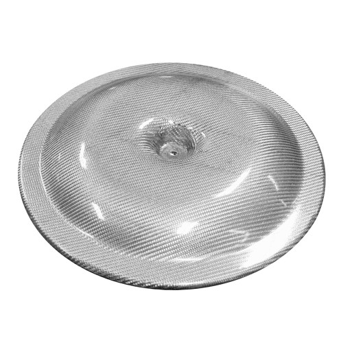 "14"" Silver Carbon Air Cleaner Lid"