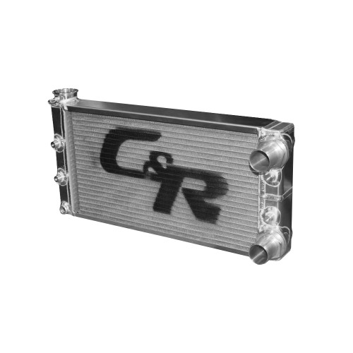 "16.25"" x 7.02"" 26 mm Single Row Double Pass Pro Mod Radiator"