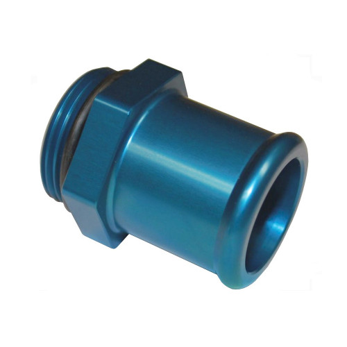 -16 AN ORB to 1-1/4 In Slip Hose Fitting, Blue