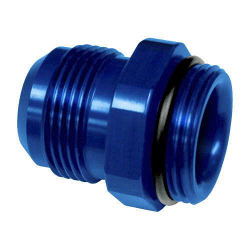 -16 AN ORB to -16 AN Hose Fitting, Blue