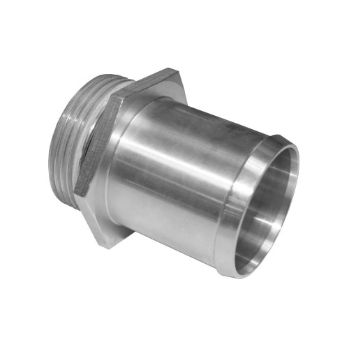 """-20 AN Port to 1-1/2"""" OD Inlet Radiator Fitting, Aluminum"""
