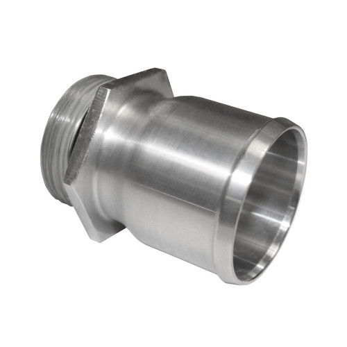 """-20 AN Port to 1-3/4"""" OD Inlet Radiator Fitting, Aluminum"""