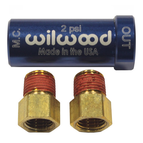 Wilwood 2 LB Residual Pressure Valve with Fittings