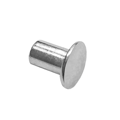 "Quarter-Max 600002-188 1/8"" x 3/16"" Long Semi-Tubular Smash Rivet, Steel, Zinc Plated"